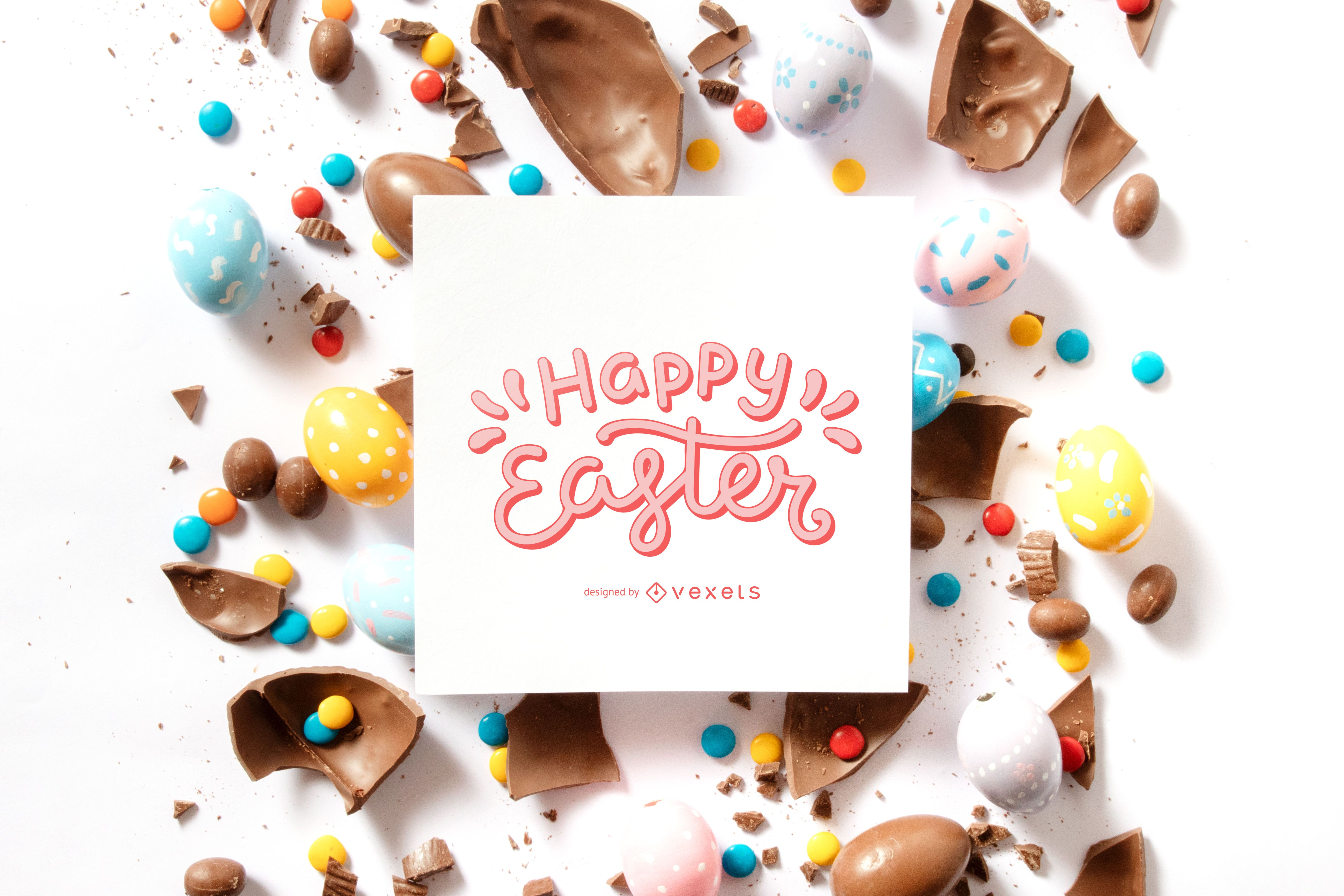 Happy Easter Quote Composition
