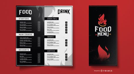 Hot food menu template