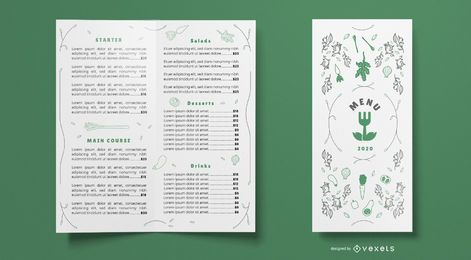 Nature Restaurant Food Menu Template