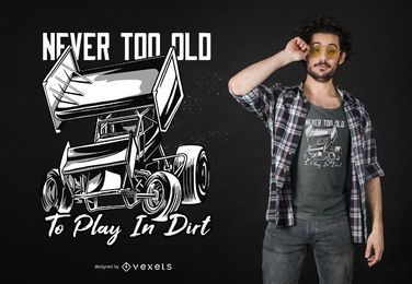 Diseño de camiseta Sprint Car Quote