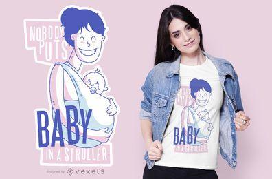 Diseño de camiseta de cita de bebé