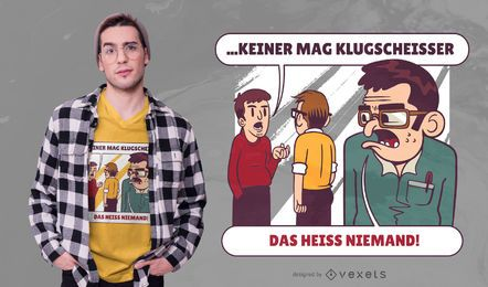 Diseño de camiseta Smartass German Quote
