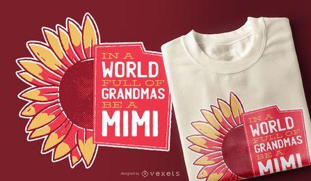 Diseño de camiseta de cita linda de abuela