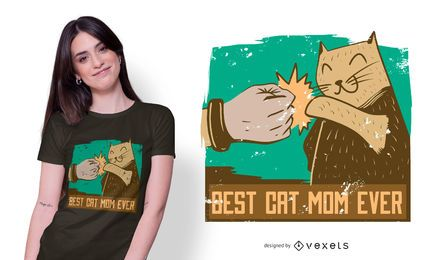 Best Cat Mom Ever Quote T-shirt Design