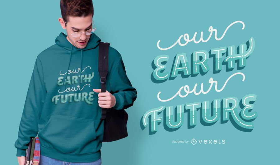 Save The Earth Quote T-shirt Design
