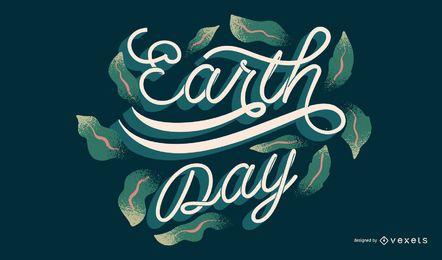 Desenho de letras do Dia da Terra