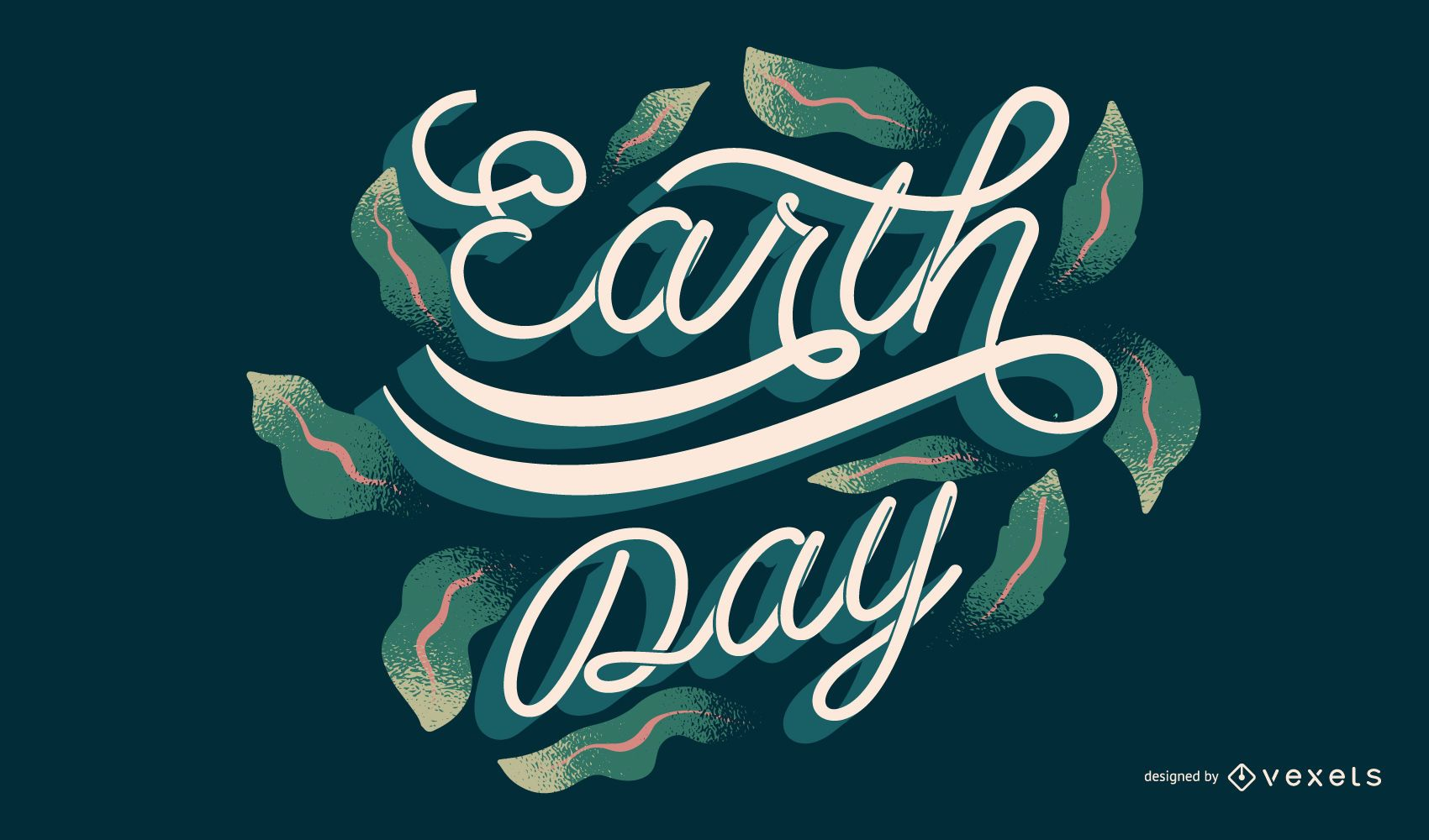 Earth day lettering design