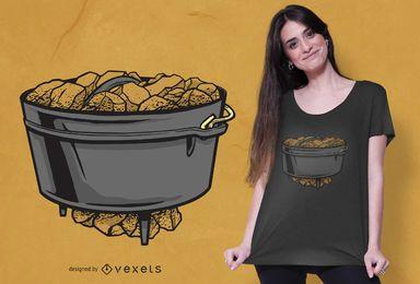 Design de camiseta com forno holandês