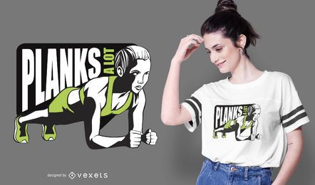 Diseño de camiseta Plank Girl Quote