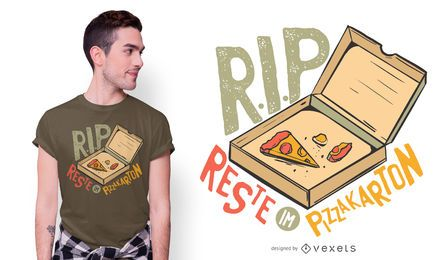 Diseño divertido de la camiseta de la cita alemana de la pizza