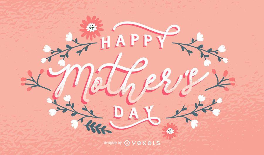 Glückliche Muttertagsbeschriftung