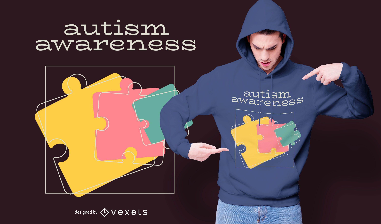 Autism Awareness Puzzle T-shirt Design