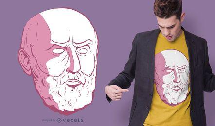 Diseño de camiseta de Epictetus Head