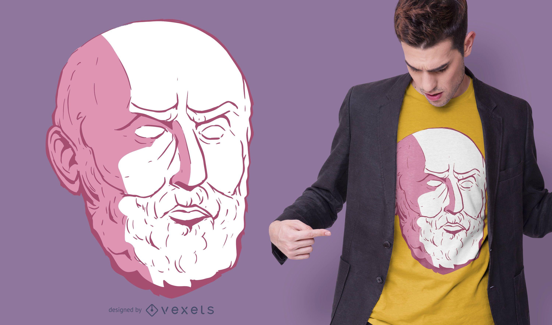 Epictetus Head T-shirt Design