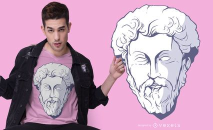 Design de t-shirt de Marcus Aurelius