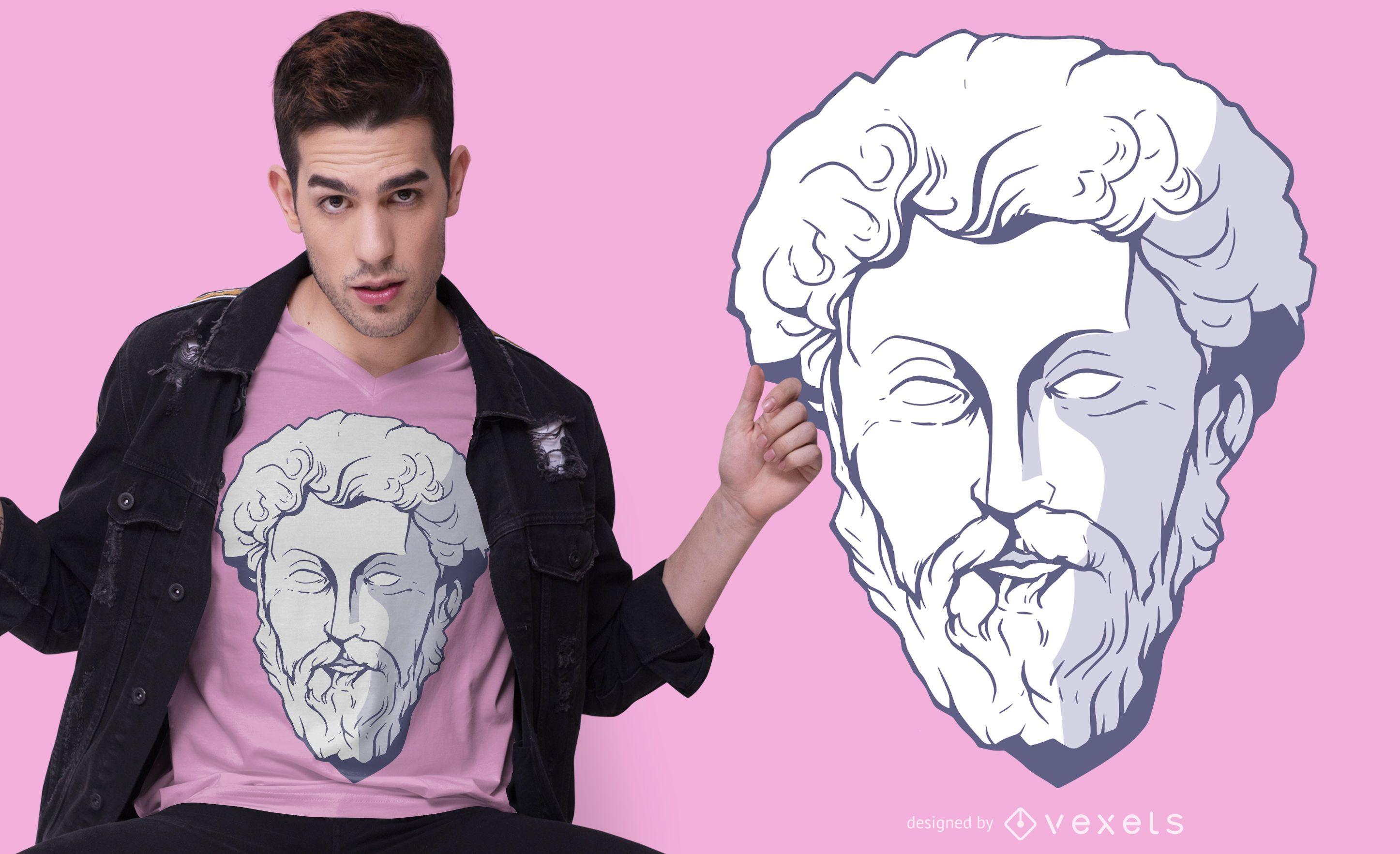 Diseño de camiseta Marcus Aurelius
