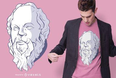 Diseño de camiseta de Sócrates