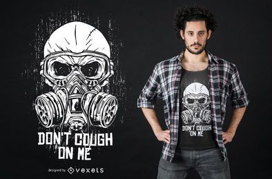 Diseño de camiseta de coronavirus de máscara de gas de grunge