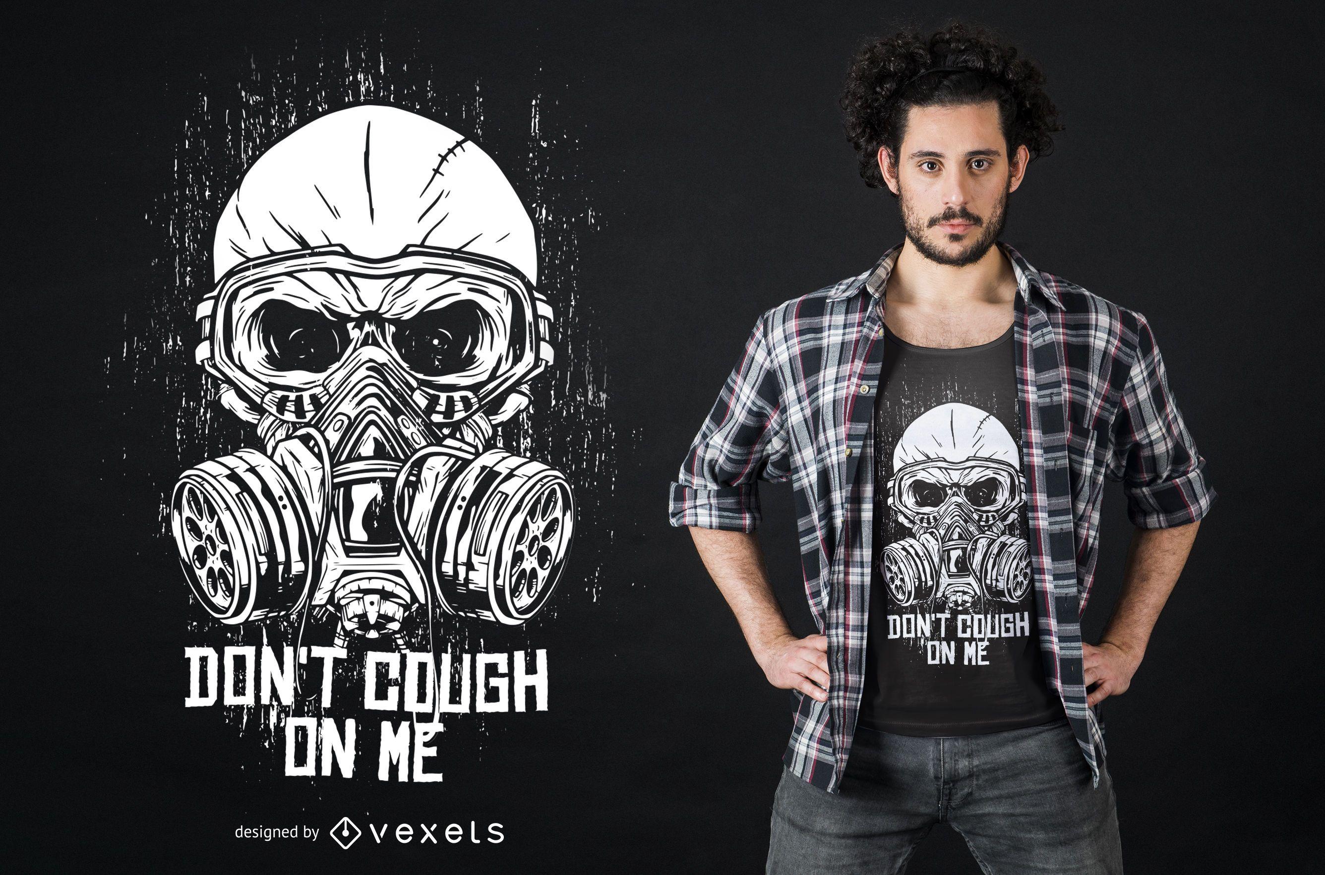 Design de camiseta grunge Gas Mask Coronavirus