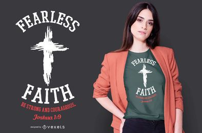 Diseño de camiseta Fearless Faith Grunge Cross