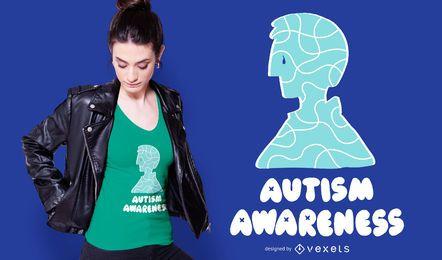 Diseño de camiseta de apoyo a la conciencia del autismo