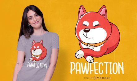 Diseño de camiseta Shiba Inu Cute Dog