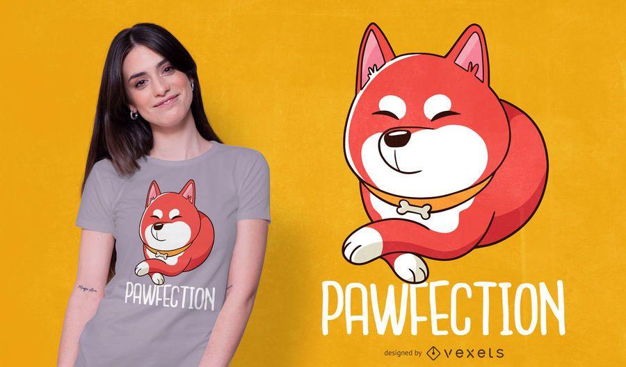 Diseño lindo de la camiseta del perro de Shiba Inu