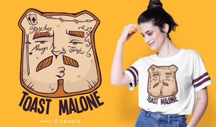 Diseño de camiseta divertida de Toast Malone