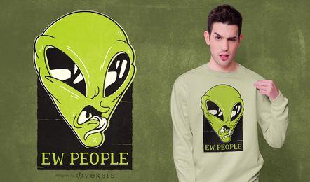Diseño de camiseta Alien Ew People