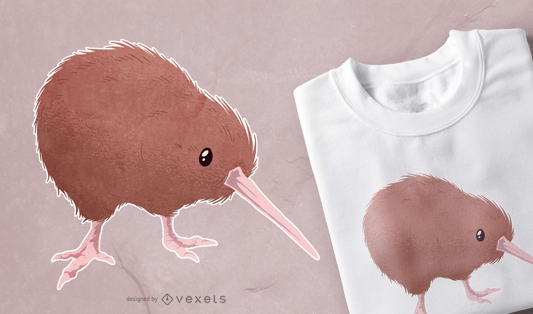 Kiwi Bird T-shirt Design