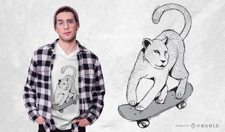 Diseño de camiseta de skate Jaguar