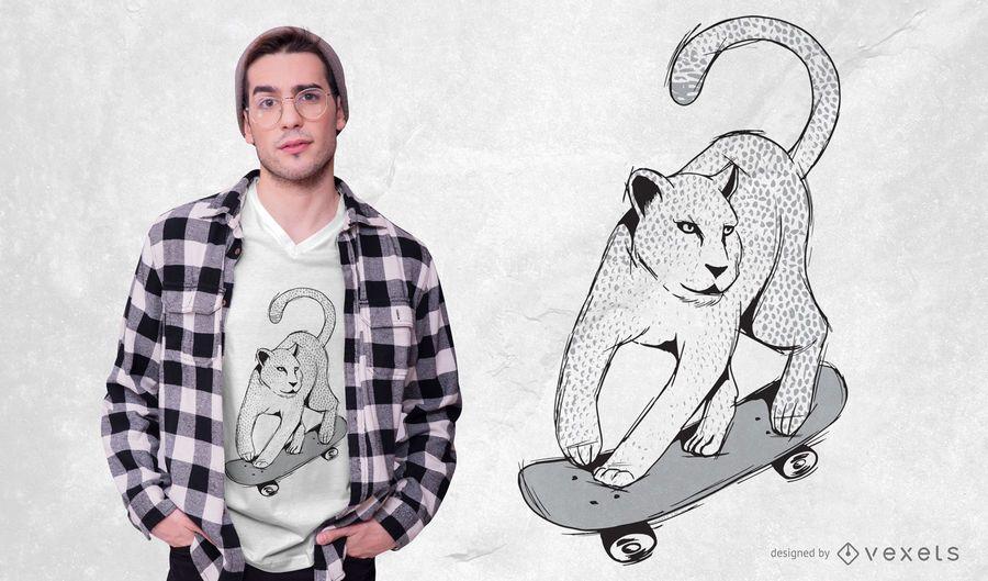 Jaguar Skateboarding T-shirt Design
