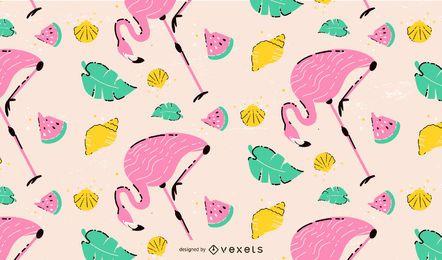 Design de padrão flamingo