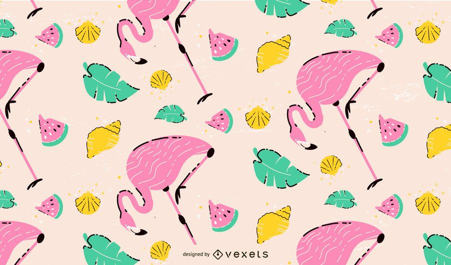 Flamingo pattern design