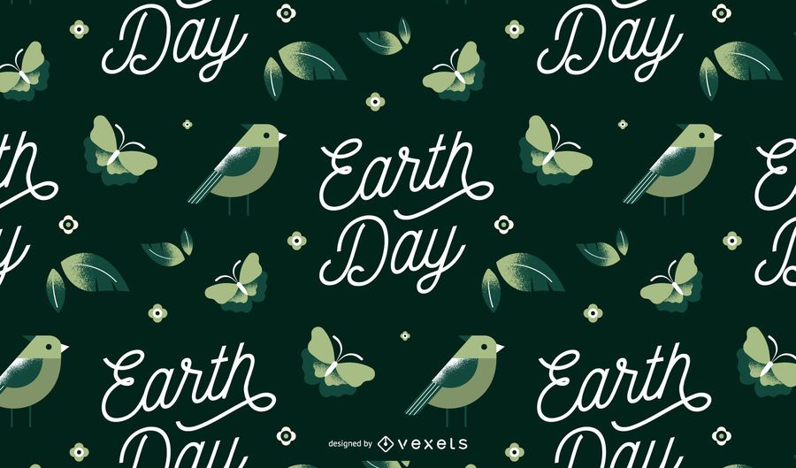 Earth day pattern design