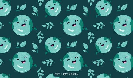 Earth day cartoon pattern design
