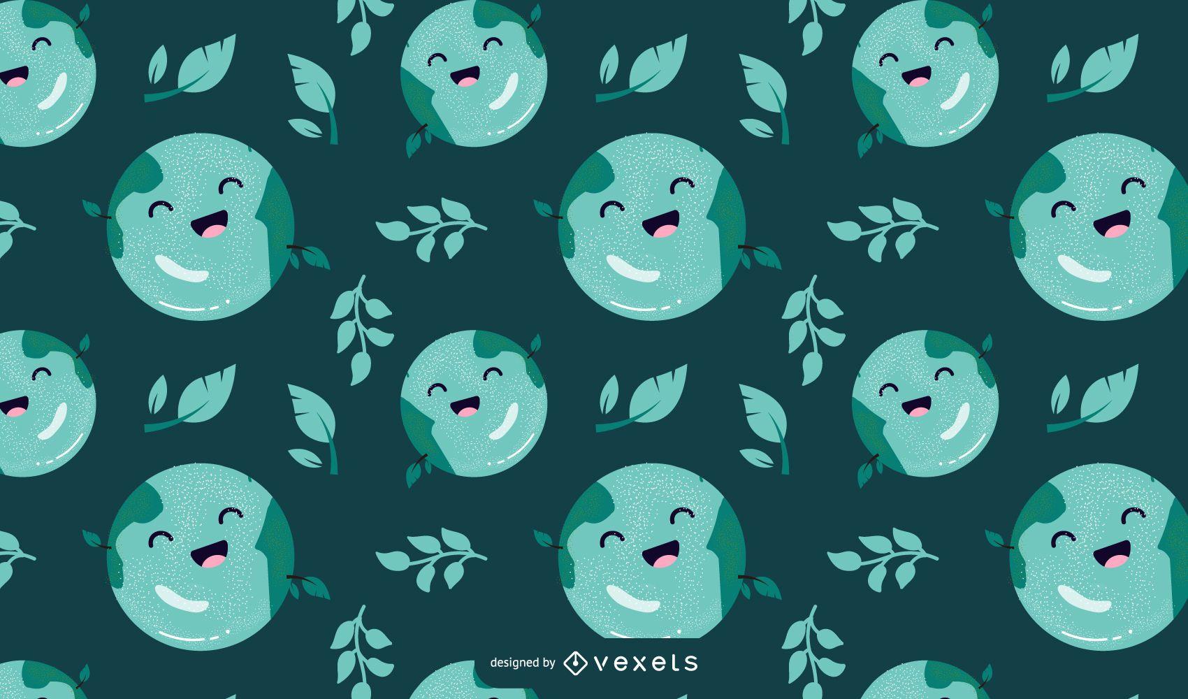 Earth day cartoon pattern design
