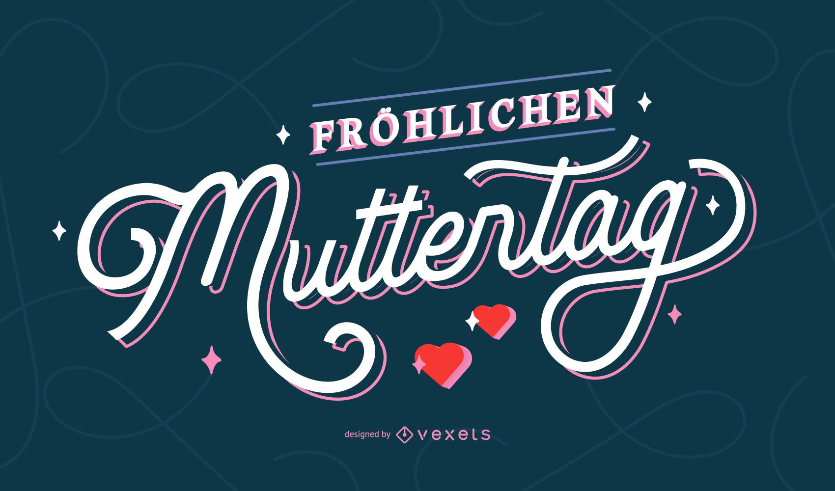 Happy mother's day german lettering