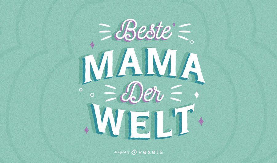 Letras alemãs de dia das mães