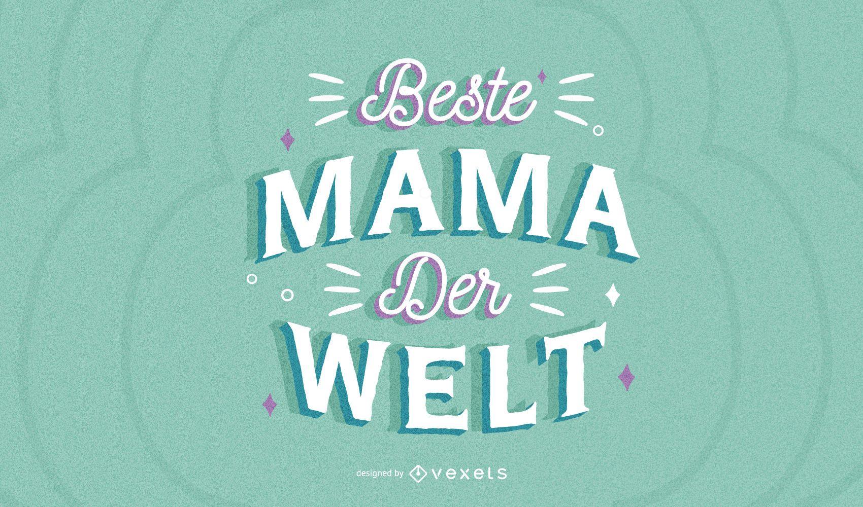 Letras alemanas del d?a de la madre