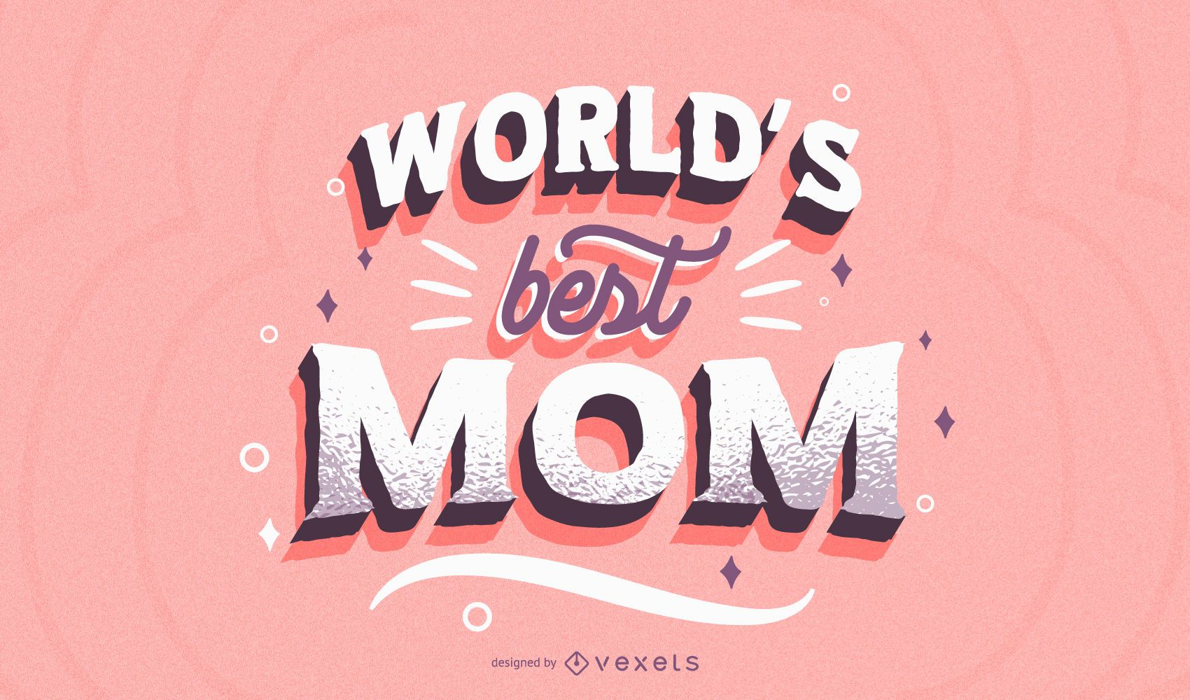 Best mom lettering design