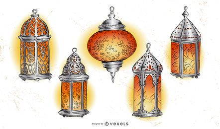 Ramadan Lantern Illustration Pack