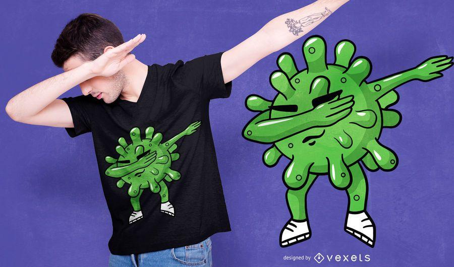 Dabbing Coronavirus T-shirt Design