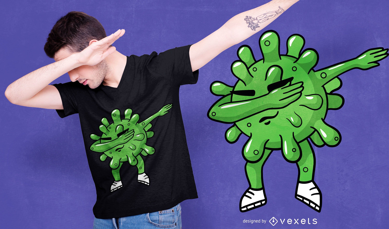 Diseño de camiseta Dabbing Coronavirus