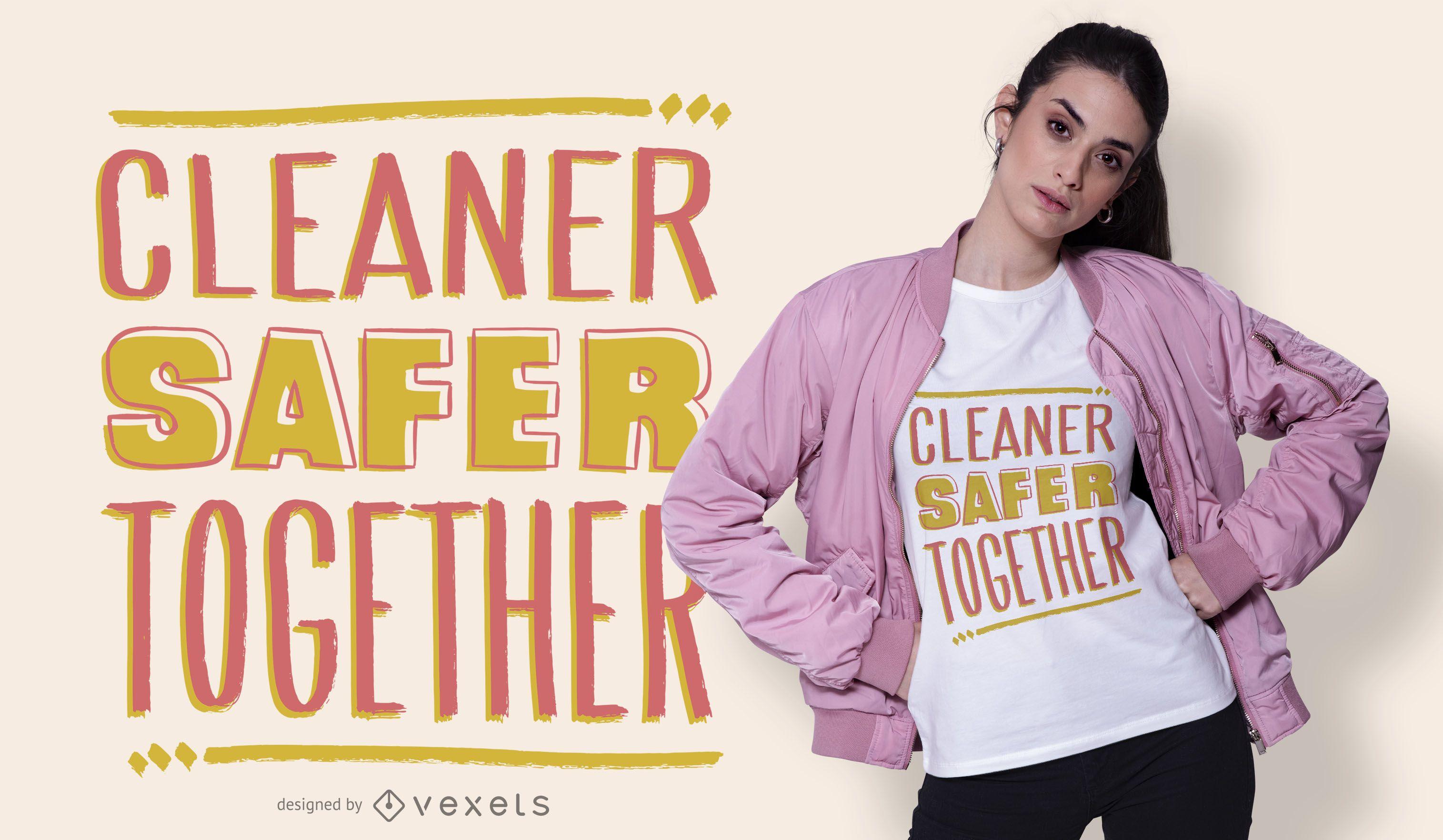 Diseño de camiseta de cita de limpiador de coronavirus