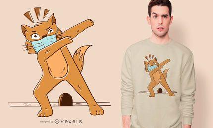 Diseño de camiseta Cat Dabbing Coronavirus