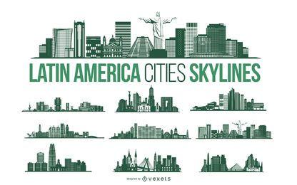 Paquete Skyline de la ciudad de América Latina