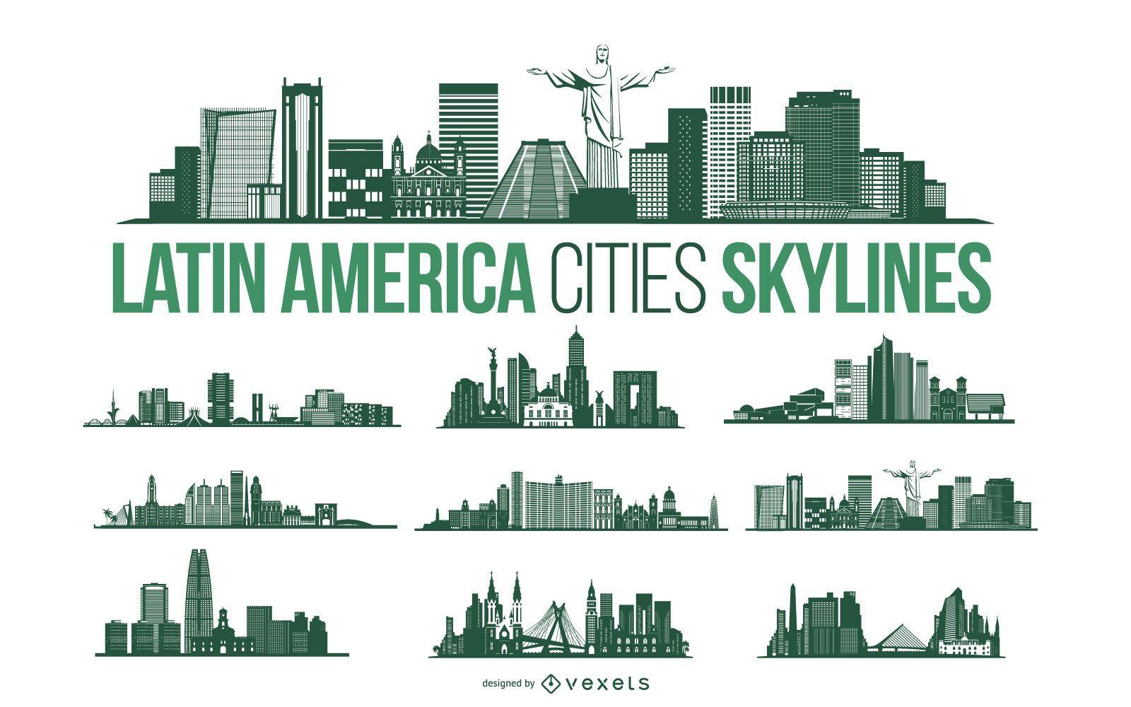 Latin America City Skyline Pack