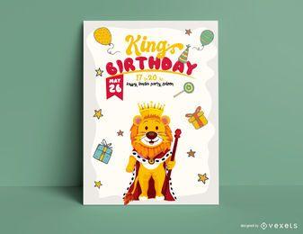 Modelo de convite de aniversário rei leão