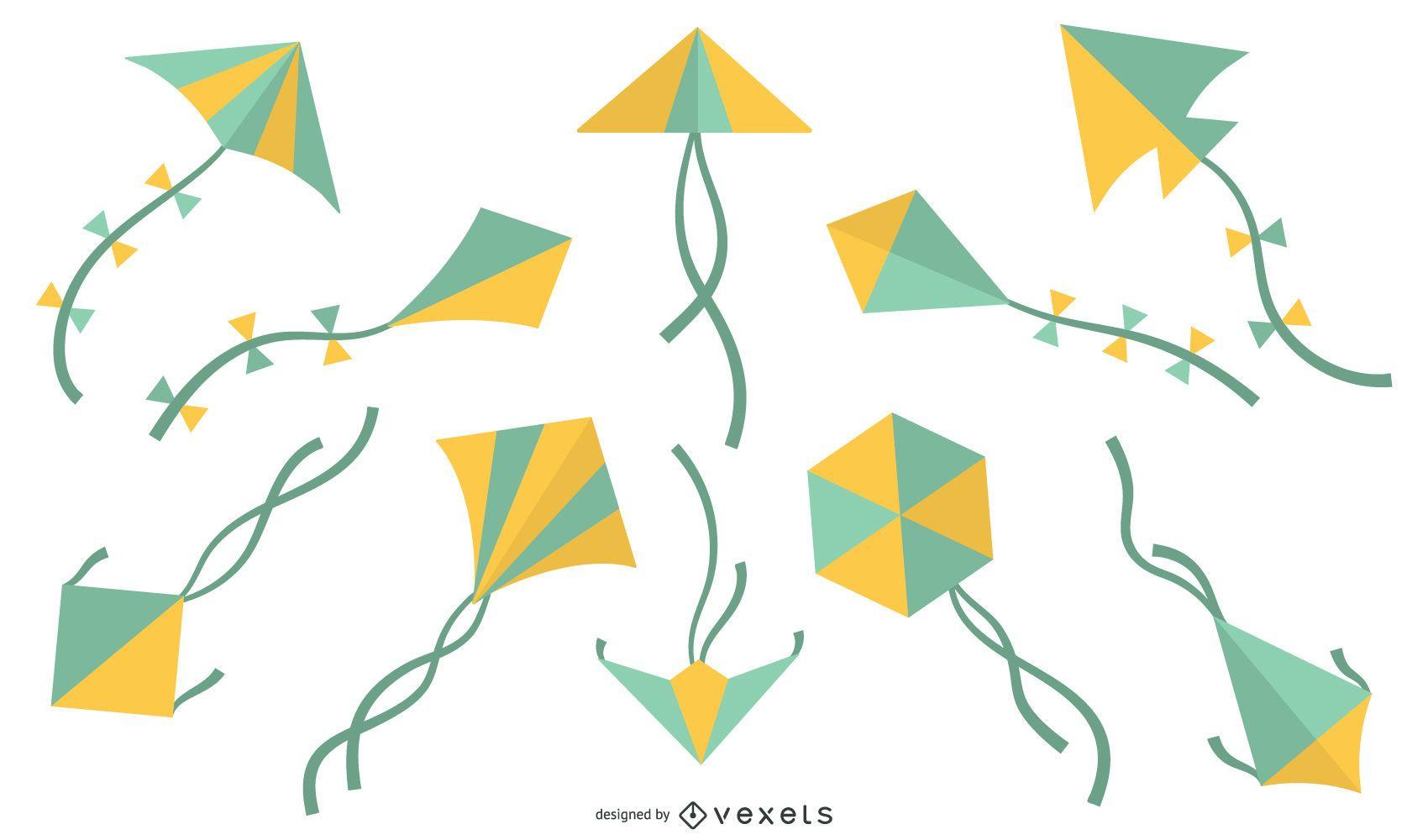 Colorful Geometric Kite Design Pack
